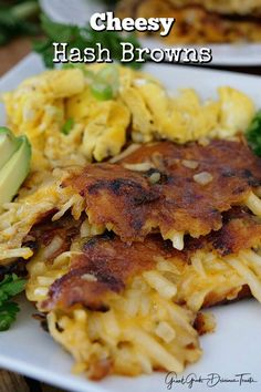 Cheesy Hash Browns are loaded with cheese, fried to a crispy golden brown and are perfect to add to the breakfast menu. An easy breakfast recipe. Potato Recipes, Veggie Recipes, Vegetarian Recipes, Cooking Recipes, Healthy Recipes, Delicious Recipes, Breakfast Bites, Breakfast Menu, Breakfast Recipes