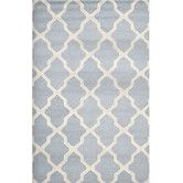 Found it at Wayfair - Emilia Silver & White Ivory Area Rug