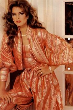 Brooke Shields 1980 Evening Pant Suit - I can remember how badly I wanted the same pants suit when I was little! ha!