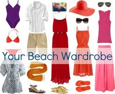 to Pack for Vacation Wardrobe Oxygen: What to Pack for Vacation Some of these items are a NO, but a good jumping off point.Wardrobe Oxygen: What to Pack for Vacation Some of these items are a NO, but a good jumping off point. Beach Vacation Wardrobe, Vacation Packing, Vacation Outfits, Summer Outfits, Cute Outfits, Travel Packing, Packing Tips, Beach Outfits, Travel Tips