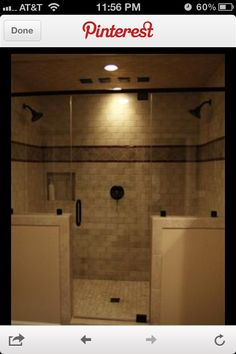 This Could Be Perfect Small Master Bath Showerthe Walls Only Going 4