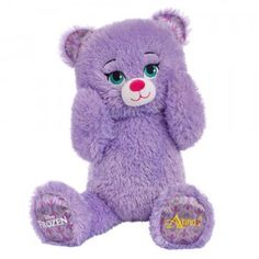 The Disney Frozen Anna Bear From Build A Bear Workshop Is A Teddy With Sparkly Purple Fur