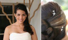simple elegance, bridal hair created by Anna