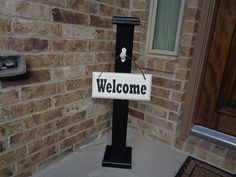 RUSTIC WELCOME POST 8 Welcome Sign Included Wooden by LLDMDesigns