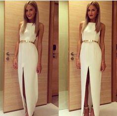 Vestido blanco elegante