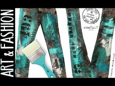 PIMP YOUR PANTS! with acrylic colors - Fashion Jeansdesign ;) by zAcheR-fineT - YouTube.  I am doing this! ~CAWeStruck