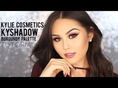KYLIE COSMETICS KyShadow Burgundy Palette Tutorial + First Impression Review - YouTube