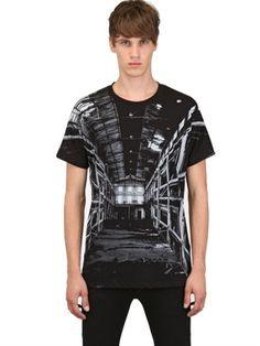 Kris Van Assche Black Limited Warehouse Print Jersey Tshirt