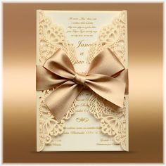 Luxury lace wedding invitation