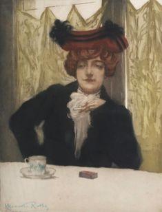 Manuel Robbe - La Cigarette (ca. 1902).