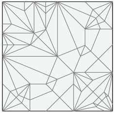 Twisted Bird Base Tessellation — crease pattern (CP