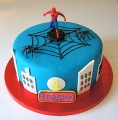 Spiderman cake, chocolate and toffee cake by www.byjojo.co.uk