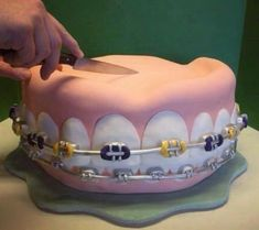 Every day is better with cake ! Know anyone who wants this cake? Dental Cake, Doctor Cake, Tooth Cake, Gifts For Dentist, Bird Cakes, Novelty Cakes, Cookie Designs, Fondant Cakes, Celebration Cakes