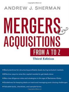 #Finance #Book: Mergers And Acquisitions From A To Z https://www.amazon.com/Mergers-Acquisitions-Andrew-J-Sherman/dp/0814413838%3FSubscriptionId%3DAKIAI72JTXNWG65ZO7SQ%26tag%3Dfnnc-20%26linkCode%3Dxm2%26camp%3D2025%26creative%3D165953%26creativeASIN%3D0814413838