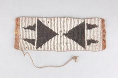 ) or armlet made of beads (glass), leather, sinew. Xhosa, British Museum, African Art, Glass Beads, Band, Detail, Leather, Crystal Beads, Sash
