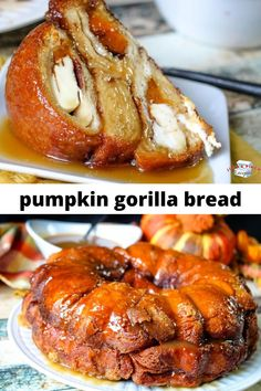 Biscuits are stuffed with pumpkin and cream cheese. It's a fantastic flavor combination that adds tons of flavor to the treat. With the cinnamon, sugar, butter coating, the gorilla bread alone is quite tasty. Fall Dessert Recipes, Fall Recipes, Meat Recipes, Breakfast Recipes, Cooking Recipes, Healthy Recipes, Drink Recipes, Recipies, Gorilla Bread