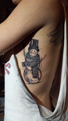 Cute snowman by Vicky Filiault