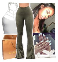 """florida☀️"" by aribearie ❤ liked on Polyvore featuring Gucci, Givenchy and GET LOST"