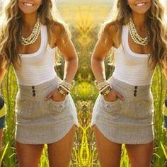 Fashion Kontrastfarbe ärmellos figurbetont Two-Tone Kleid