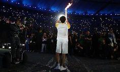 Gustavo Kuerten 2016 Olympic torch opening ceremony