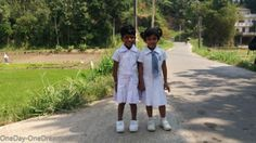 Sri lankan kids on the way to school