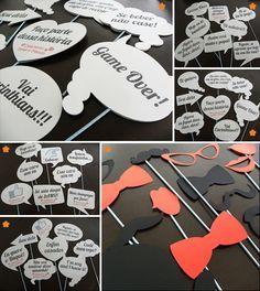 Placas para casamento e Fun sticks | Plates for wedding and Fun sticks.
