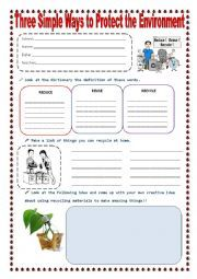 Earth Day Worksheets: Reduce, Reuse, Recycle! | Reduce reuse ...