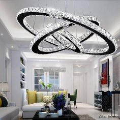 Modern Crystal Led Chandelier Lights Home Lighting Chrome Lustre Chandeliers Ceiling Pendant Fixtures For Living Room. Product ID: