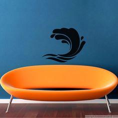 Stickers muraux pour salle de bain - Sticker mural Vagues artistique | Ambiance-sticker.com