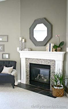 corner fireplace ideas (fireplace ideas) Tags: corner fireplace DIY, corner fireplace furniture arrangement, corner fireplace decorating, corner fireplace makeover fireplace ideas with tv Fireplace Redo, Fireplace Remodel, Fireplace Design, Fireplace Ideas, How To Decorate Fireplace, Tiled Fireplace, Mantle Ideas, Bedroom Fireplace, Fireplace Furniture