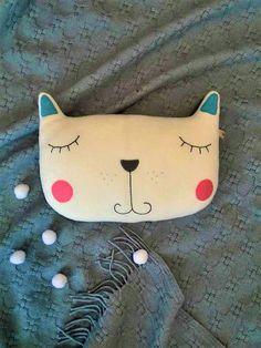 Amortiguador decorativo gato gato de vivero decoración almohada para niños sala escandinava decoración niños Inicio decoración Baby shower regalo Kitty almohada personalizada
