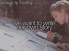 Reading brings out many people to write their own story and makes them free and it is like a reminder of how lucky people are.