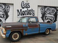 1967 Ford F100 (@GasMonkeyGarage) Farm Trucks, Old Trucks, Pickup Trucks, 79 Ford Truck, Gas Money, Old Pickup, Shop Truck, Old Fords, Old Skool