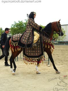 Inspiration for royal riding clothes.  The Rancho Murieta Arabian/Half-Arabian horse show