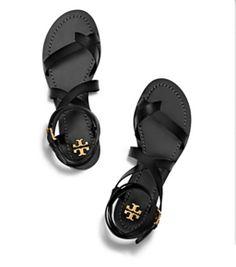 Black Tory Burch Patos Sandal