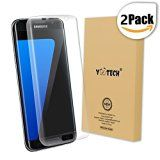 Galaxy S7 Edge Screen Protector [Full Coverage] Yootech [2-Pack] [Anti-Bubble] [HD Clear] Curved Edge to Edge Screen Protector for Samsung Galaxy S7 Edge