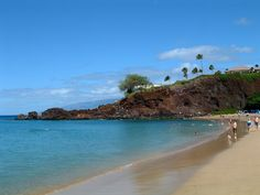 Black Rock is at the north end of Ka'anapali Beach, and is a great place to cliff-jump into the ocean, and snorkel.