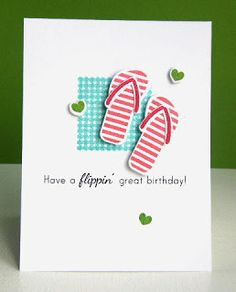 Another great flip-flop card.  Kara's blog post also has the really pretty color combo - check it out!