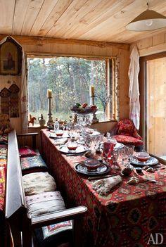 DECORAÇÃO - Cabana Russa na França