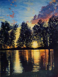 A Beautiful Vibrant Landscape Painting, perfect to add color and beauty to your home and life. Find the Beautiful