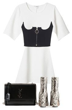 """Untitled #5650"" by theeuropeancloset ❤ liked on Polyvore featuring Monki and Yves Saint Laurent"