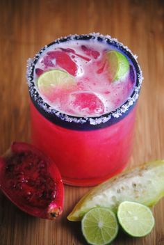 Prickly Pear Margaritas....many places in Texas are now serving these, and they are awesome! With all the health benefits recently discovered with Prickly Pears, at least you're getting *some* good with your margarita, lol!