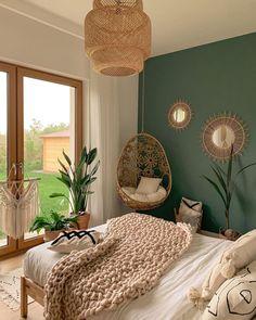 Bedroom Green, Room Ideas Bedroom, Home Bedroom, Bedroom Decor, Bedrooms, Bedroom Wall Designs, Wall Decor, Design Bedroom, Bedroom Colors