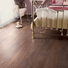 Amadeo Natural Shire oak effect Laminate flooring m² Pack - B&Q for all your home and garden supplies and advice on all the latest DIY trends Water Underfloor Heating, Laminate Flooring Diy, Lets Stay Home, Cribs, Living Room Decor, Toddler Bed, Colours, Shire, House