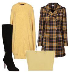 Il giallo con i quadri  outfit donna Trendy per ufficio  c09e2c44ad55