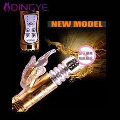 Konijn Vibrator Grote 12 Speed Gold Flexibele Stak Dildo G-spot Dildo Vibrator voor Vrouwen Seksspeeltjes