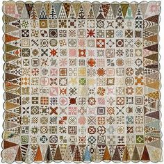 the original Dear Jane quilt made by Jane Stickle in 1863 with 169 five inch squares, 52 border triangles, and 4 corner triangles
