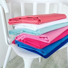 Fat stacks for linen lovers#bold #bright #home #style