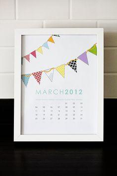 Paper Goods - Calendars - 2012 printable calendars