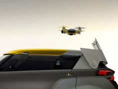 renault KWID concept w/flying companion: an off-road car with built-in drone quadcopter